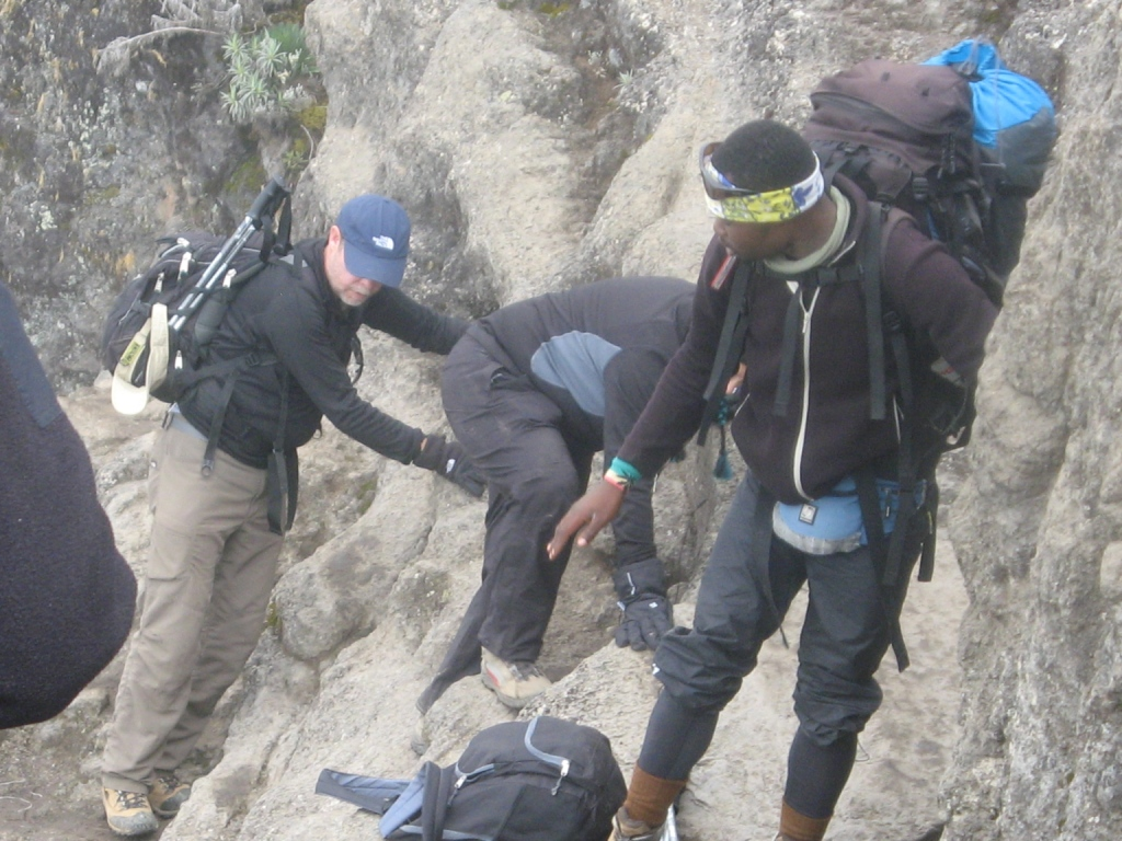 Climbing the Great Barranco Wall